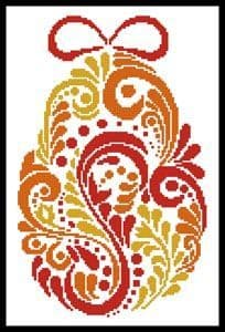 Abstract Easter Egg 2 by Artecy printed cross stitch chart